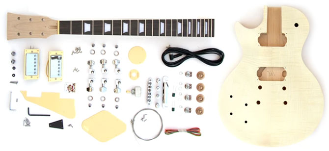 Left Handed DIY Single Cut Guitar Kit