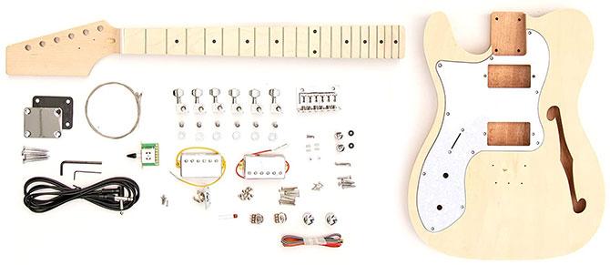 Left Handed DIY Thinline Telecaster Guitar Kit