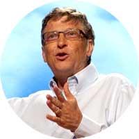 Bill Gates Left Handed