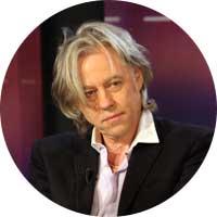 Bob Geldof Left Handed