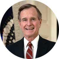 George HW Bush Left Handed