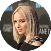 Jennifer Lawrence Left Handed