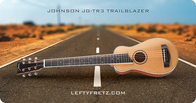 Johnson JG-TR3 Trailblazer Left Handed Travel Guitar