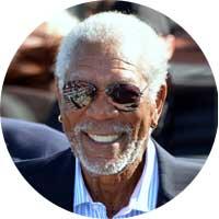 Morgan Freeman Left Handed