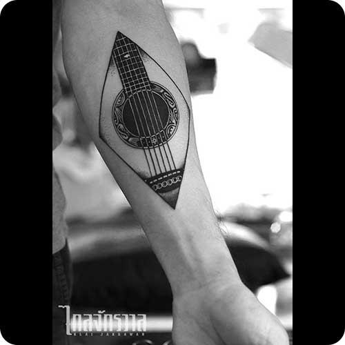 Amazing Guitar Tattoo