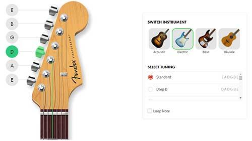 Fender Free Online Guitar Tuner