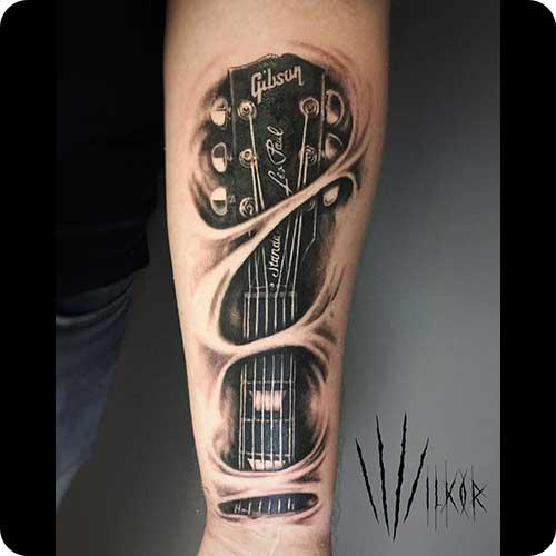 Gibson Headstock Tattoo