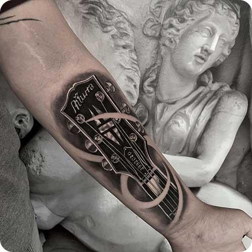 Guitar Headstock Tattoo