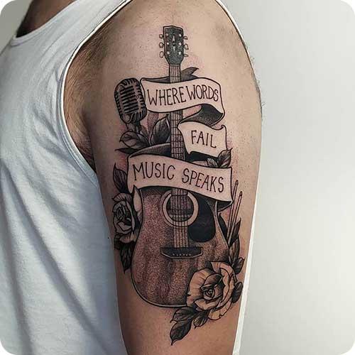 Guitar Script Tattoo