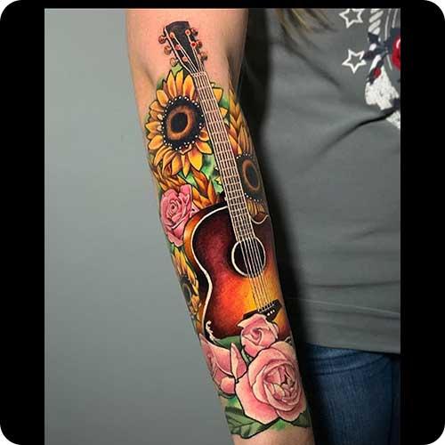 Guitar Tattoo Sleeve
