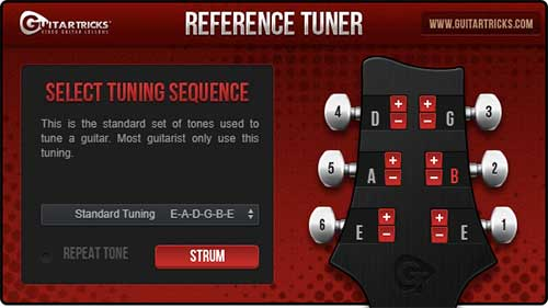 Guitar Tricks Tuner