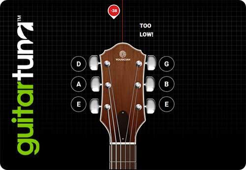GuitarTuna Online Tuner with Microphone