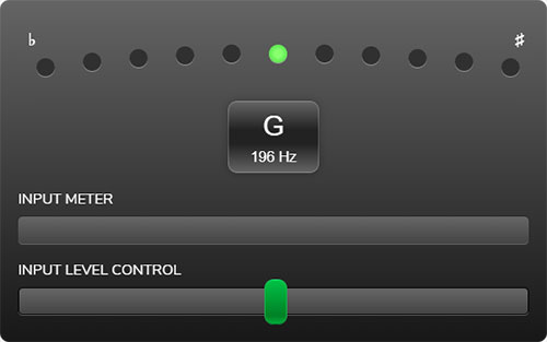 JamyPlay Free Online Chromatic Guitar Tuner
