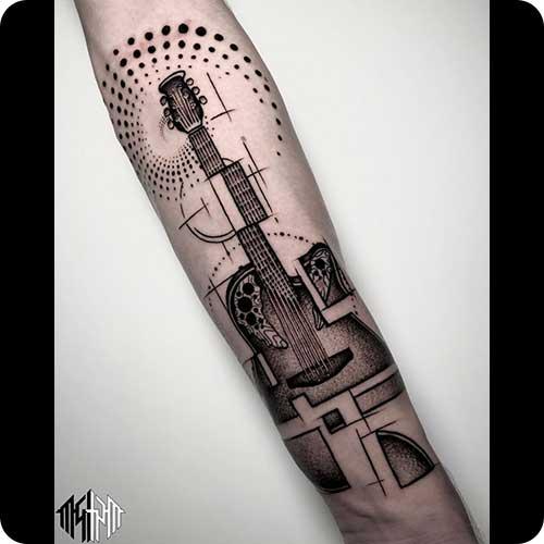 Mathematical Guitar Tattoo