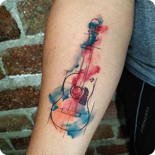 Guitar Sketch Tattoo