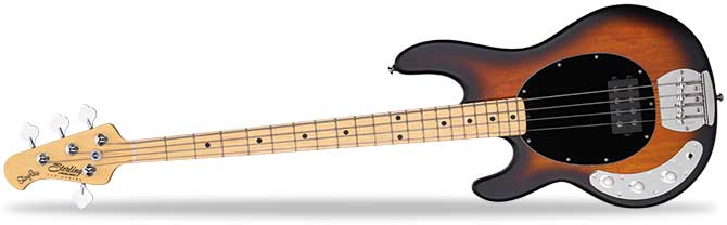 Left Handed Sterling Stingray Ray4 Bass