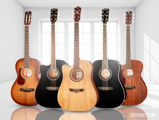 Harley Benton Left Handed Acoustic Guitar
