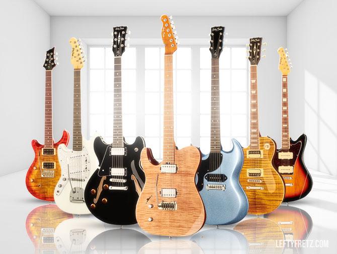 Harley Benton left handed electric guitars