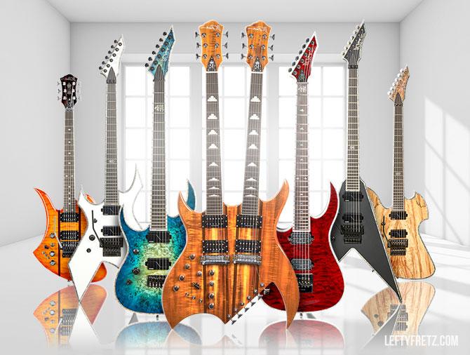 BC Rich Left Handed Guitars